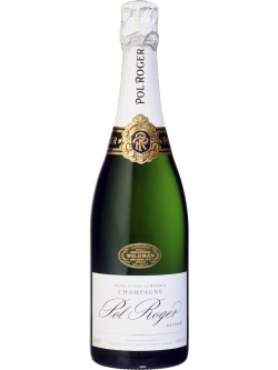 Pol Roger NV Brut Reserve ( White Foil) (6 bottles Bundle)